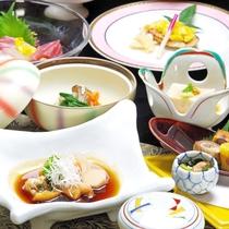 *グレードUP会席。季節毎にメニューが変わります。割烹旅館ならではのお食事をお愉しみ下さい