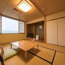 *【客室一例/10畳】お子様連れ、グループのお客様にお勧めの10畳の和室。