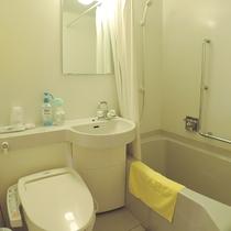 *【洋室ツイン・バストイレ】ユニットバス完備です