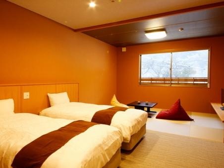 本館2間続きの和洋室【ベッド付き】
