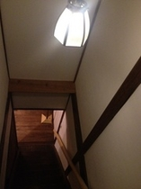 階段 Original old steps & the cute illumination lump