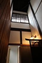"""火袋(ひぶくろ)、京町家の特徴の台所の吹き抜け """"Hibukuro"""" high ceiling"""