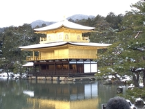 雪の金閣寺(鹿苑寺) Kinkakujl temple(Golden pavilion)