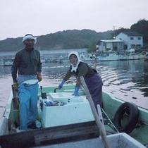 ◎当館の主人と女将は現役の漁師と海女さん♪