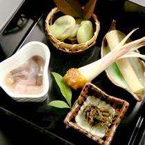 季節の前菜*四季感じる旬の食材を使用しています
