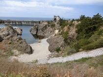 施設からみた姫津海岸