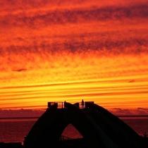 """【三大名物】三大名物の1つ""""夕日""""大自然の素晴らしさを感じていただきたい。その一言です。"""