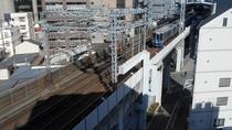 西鉄電車(客室からの景色)