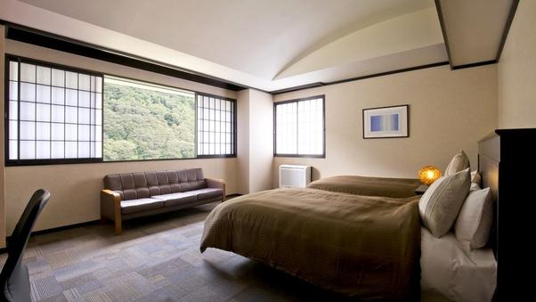 【本館】リバービュー洋室ツインルーム/30平米・バス付・禁煙