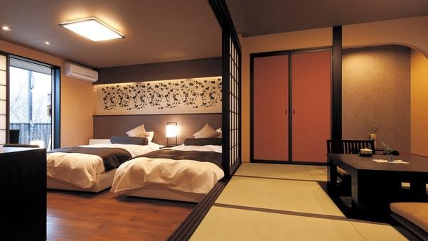 【露天風呂付き客室】別邸 四季彩「伽羅・杜若」【禁煙】