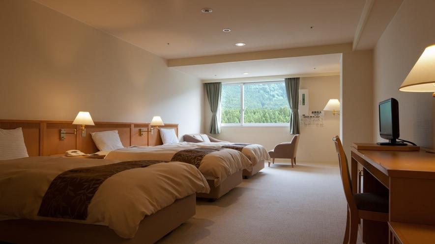 【トリプル】37.5m2とゆったりとした広さと居住性に満ちたお部屋です。