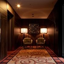 エグゼクティブフロアは専用のエントランス、特別な空間を演出しています。