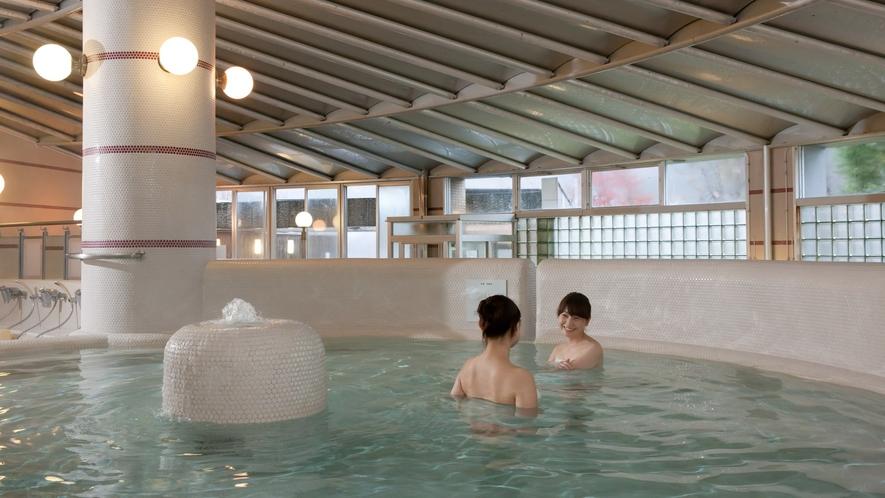 【5種の内風呂】広々とした浴槽でリフレッシュ♪   【5種の内風呂】寝湯   【5種の内風呂】ジャグ