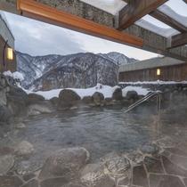 露天風呂から眺める冬の景色はまさに絶景!