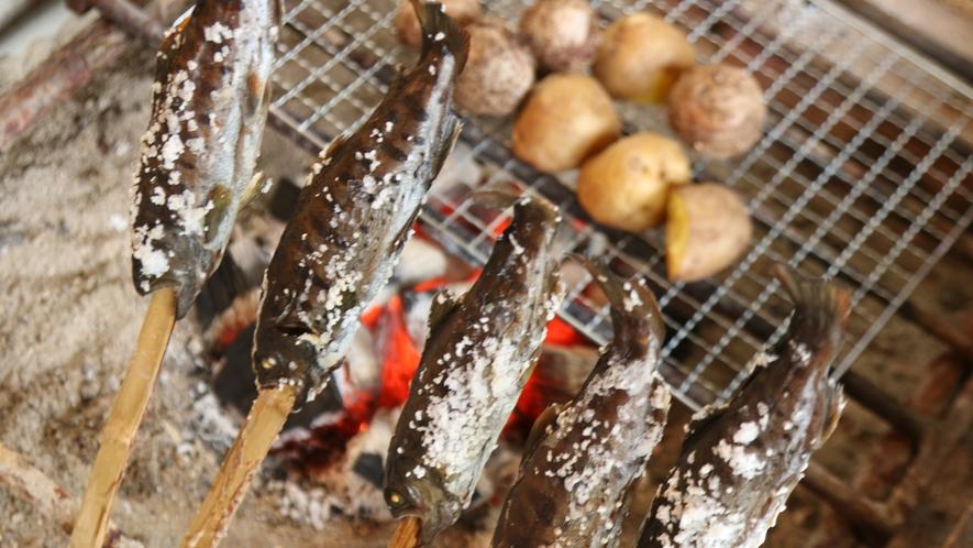 安倍川で獲れるアマゴ姿焼き