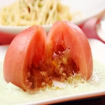 フレッシュトマトのポットわさびムース