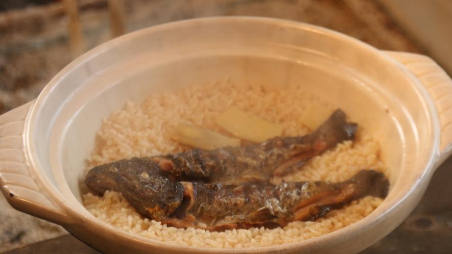 秋の味覚♪アマゴの旨味たっぷり炊き込みご飯