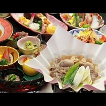 【ご夕食一例・プレミアム会席】芋煮鍋