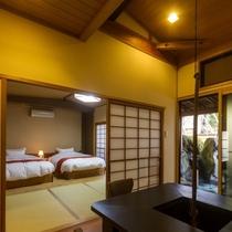 客室は全10室、趣はお部屋タイプによって異なります。
