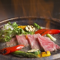 (初夏)豊後牛と旬野菜 大分麦焼酎の香味焼