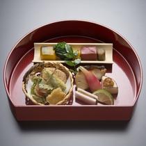 (冬)旬の味覚を盛り込んだ前菜