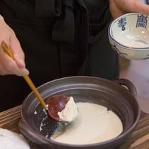 【朝食】毎日手作りされるふわふわしっとりのお豆腐