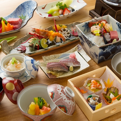 【「お食事処」で会席料理】「円かの杜スタイル」ラグジュアリープラン