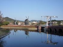 ハウステンボス 風車のある風景