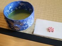 お抹茶のサービス(不定休)