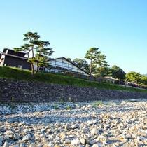 愛知川から見た永源寺温泉!