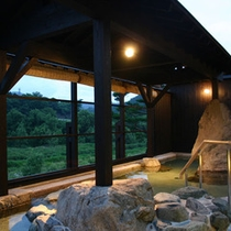 【露天風呂】愛知川の自然が一望できる露天風呂