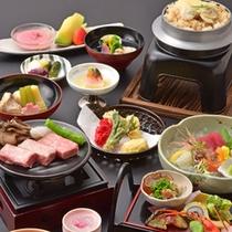 【ご夕食(一例)】季節のお料理をお愉しみください