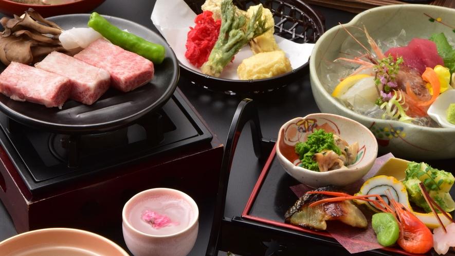 *【ご夕食(一例)】季節のお料理をお愉しみください