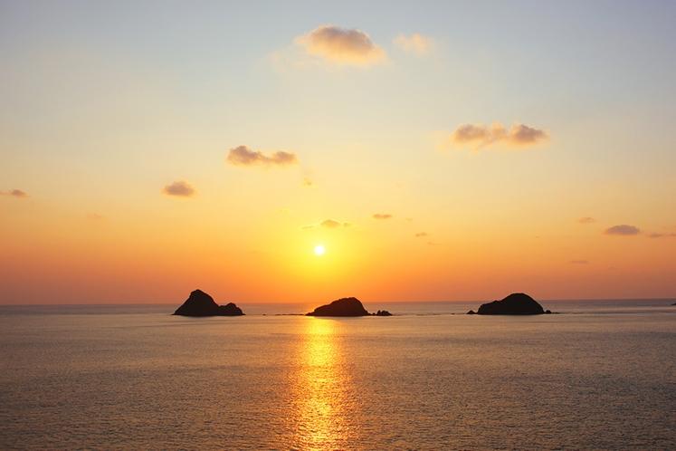 西古見の夕日