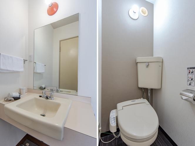 シングルルーム(バスなし) トイレ
