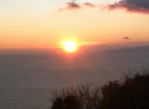 太平洋に沈む夕日