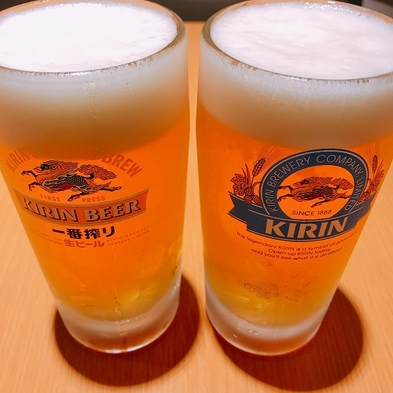 :::生ビール2杯付宿泊プラン:::スパサウナ・朝食付※男性専用