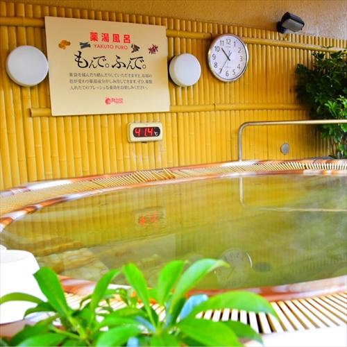 6F浴場内「らせん階段」から上がれる露天コーナー 薬湯風呂