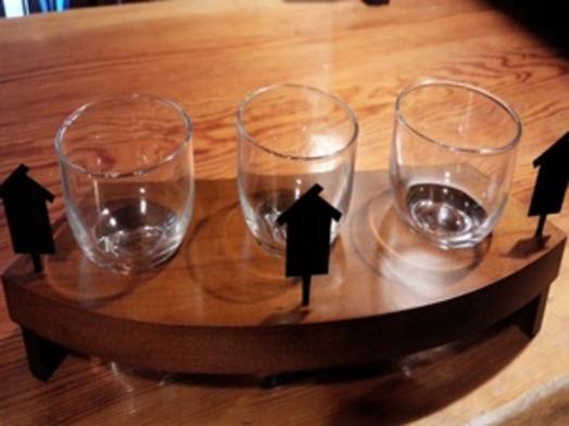 まにわの地酒呑みくらべプラン (岡山の地酒三酒呑み比べセット)
