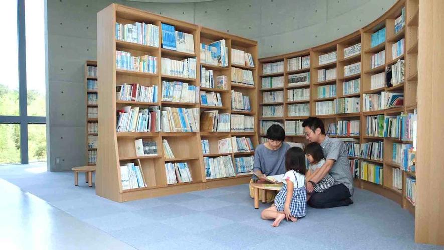 ・読書ルーム 児童書や星の専門書が充実しています