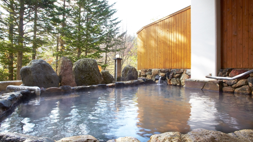*露天風呂/春は新緑に冬は雪見、夜は星空と自然豊かな眺めをお楽しみいただけます。