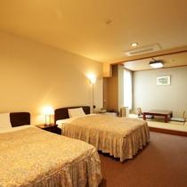 特別和洋室:1日1組限定のお部屋。広々とした空間で贅沢なひと時をお過ごしください。
