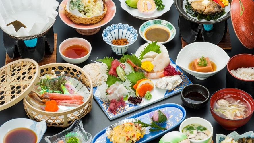 【汐彩和膳】あわび陶板焼き、ずわい蟹のしゃぶしゃぶをメインに旬の海の幸を贅沢に味わう♪