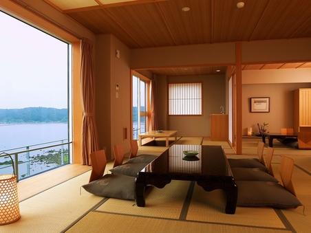 【北の風】〜特別室 海王〜15畳+8畳+広縁(堀り炬燵)