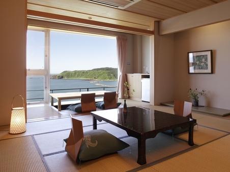 【禁煙・北の風〜新館〜】戸賀湾を臨む和室12畳+広縁