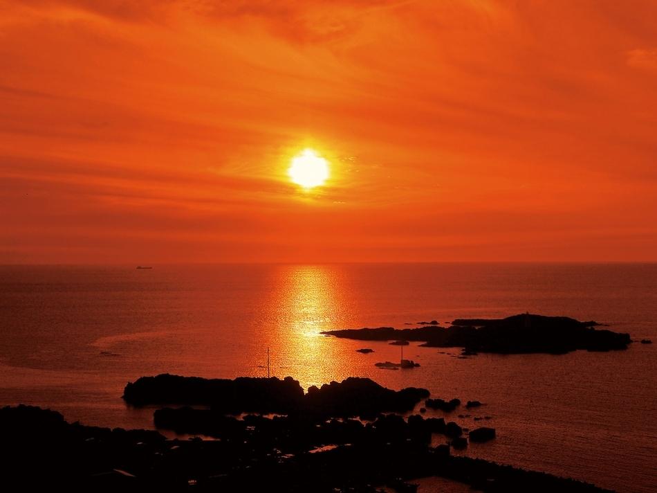 海と入り陽