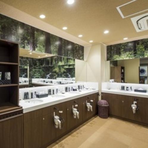 大浴場前洗面コーナー