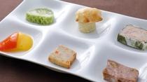 【夕食一例】6種の前菜プレート(カジュアルフルコース)