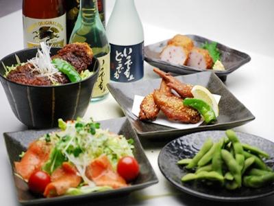 夕食メニュー一例:グループ様のご利用も可能です。※コロナウィルス感染防止にご協力下さいませ
