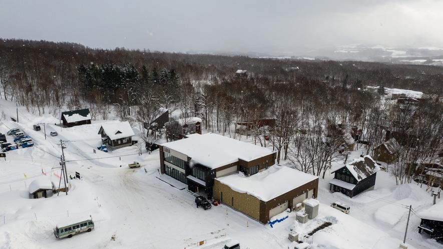 ホテル全景 冬2